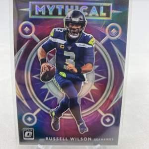 Lot # 89 2020 Panini Prizm Donruss Optic Football Mythical Russell Wilson Seahawks