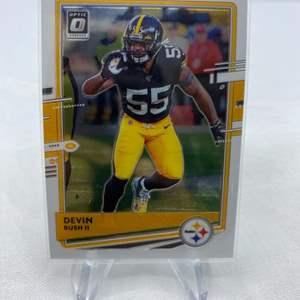 Lot # 91 2020 Panini Donruss Optic Football DEVIN BUSH II Pittsburgh Steelers