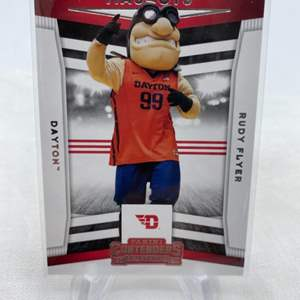 Lot # 103 2020 Panini Contenders Draft Picks Mascots RUDY FLYER Dayton