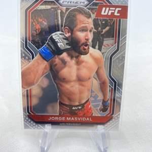 Lot # 132 2021 Panini Prizm UFC JORGE MASVIDAL