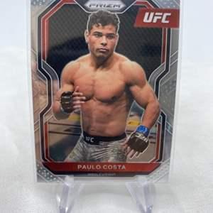 Lot # 142 2021 Panini Prizm UFC PAULO COSTA