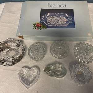 Lot # 7 Lot of Glass and Crystal Dishes