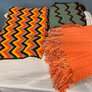 Lot # 10 Lot of Knitted Blankets