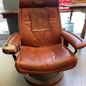 Lot # 12 Leather Chair (To be Refurbished)