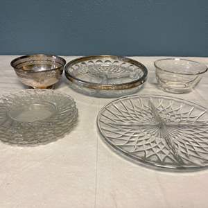 Lot # 22 Lot of Crystal Plates - With Separators