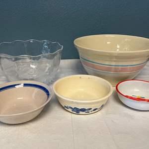Lot # 37 Lot of Bowls - Glass, Plastic, Stone