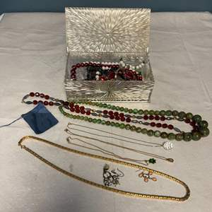 Lot # 44 Lot of Costume Jewelry in Clear Box