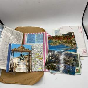 Lot # 51 Lot of Travel Related Papers - Postcards with Notes, Tickets, Etc.