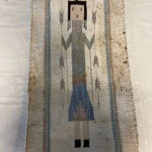 Lot # 53 Small Decorative Rug with Depiction of Person
