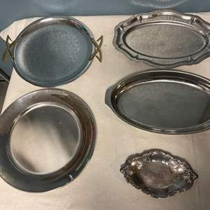 Lot # 59 Lot of Silver Plated Trays