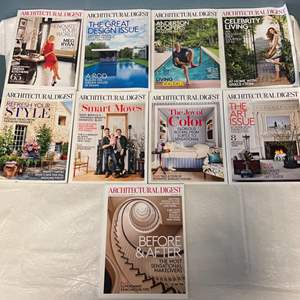 Lot # 65 Lot of Architectural Digest Magazines