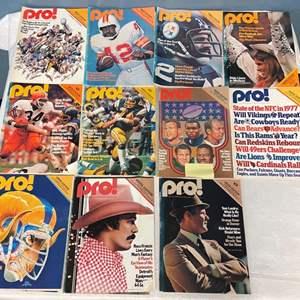 Lot # 73 Lot of 1970s Pro Magazines