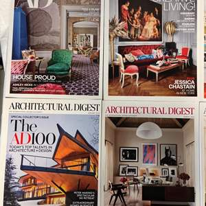 Lot # 76 Lot of Architectural Digest Magazines