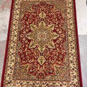 Lot # 78 Floor Rug 2 - Royalty Brand, Red with Yellow-Gold Accents