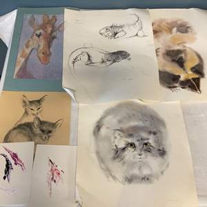 Lot # 82 Lot of Animal Sketches