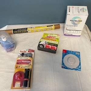 Lot # 85 Lot of Bathroom Cleaning Items - Grout, Mopping Soap, Toilet Repair, Hair Catcher