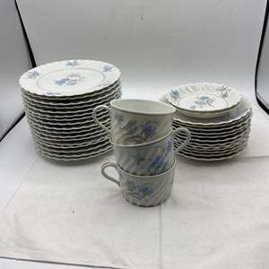 Lot # 106 French China Set, Blue Floral