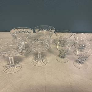 Lot # 107 Glass and Crystal Cups
