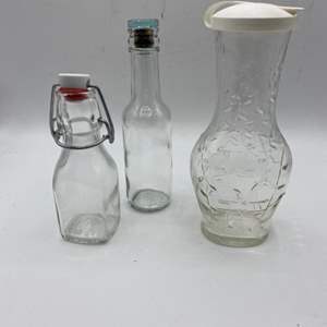 Lot # 108 Lot of Glass Bottles with Special Lids