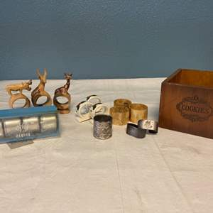 Lot # 122 Lot of Napkin Rings - Includes American Airline and Kirk Stieff