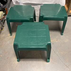 Lot # 6 Plastic Outdoor Side Tables