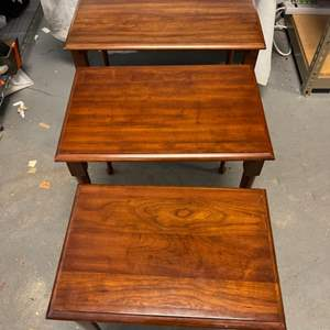 Lot # 9 Set of 3 Nesting Tables