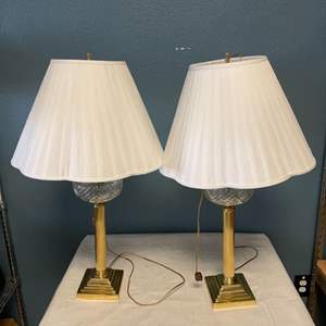 Lot # 19 Pair of Decorative Glass Lamps