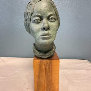 Lot # 32 Sculpture Of A Woman By Jacquie Flood