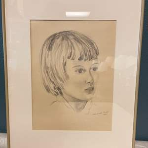 Lot # 42 Sketch Of A Girl By Jacquie Flood