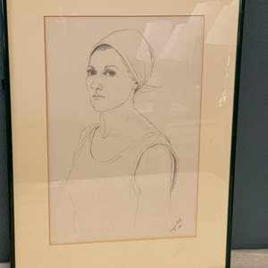 Lot # 43 Drawing of A Woman By Jacquie Flood
