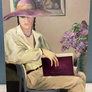 Lot # 63 Painting of A Woman Reading By Jacquie Flood
