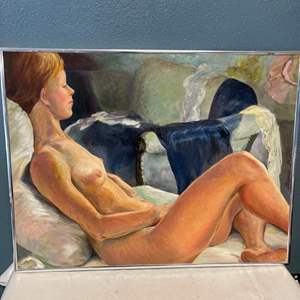 """Lot # 69 Painting Titled """"Left to Dream"""", signed Jacquie Flood"""
