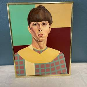 Lot # 72 Painting of Woman, Signed Jacquie Flood