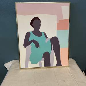 Lot # 77 Painting of Woman Lounging, signed Jacquie Flood