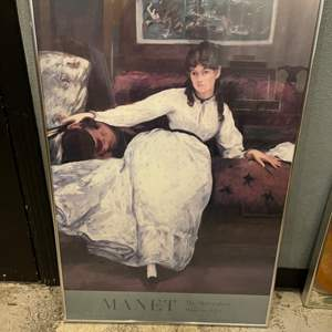 Lot # 79 Print of Woman in White Lounging