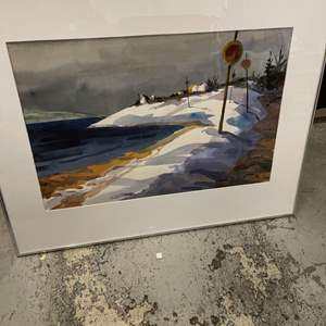 Lot # 83 Print of Snow-Covered Beach, Signed Reeves