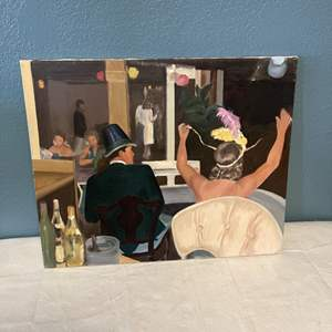 """Lot # 93 Painting Titled """"New Year's Antiqua"""" signed Jacquie Flood - No Frame"""