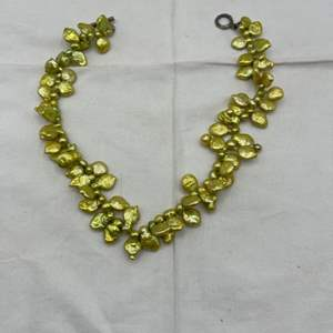 Lot # 101 Mexico Goldtone Necklace, Marked Mex925