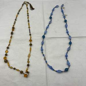Lot # 109 Two Beaded Necklaces from SF Designer