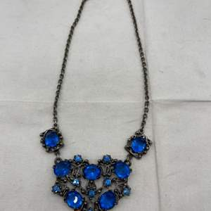 Lot # 112 Antique Necklace with Blue Rhinestones