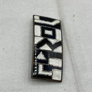 Lot # 113 Art Deco Enamel Pin, Geometric Black and White