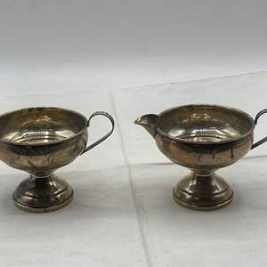 Lot # 122 Pair of Sterling Cups