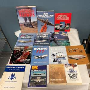 Lot # 138 Lot of Plane And Train Books