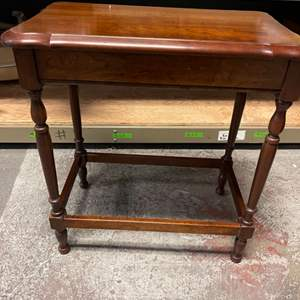 Lot # 149 Small Wooden Rectangular Side Table