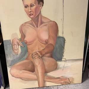 Lot # 177 Painting of a Naked Woman Sitting With Legs Crossed- No Frame