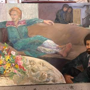Lot # 187 Oil Painting with Mixed Representation - No Frame