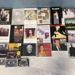 Lot # 196 Lot of Art DVDs, CDs, and Cassettes