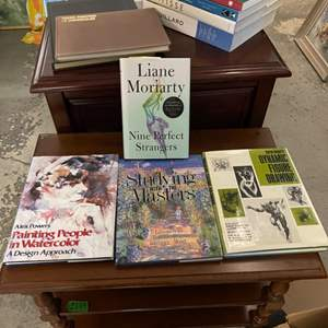 Lot # 198 Lot of Books - Watercolor Painting, Dynamic Poses, Fiction, Art Collections