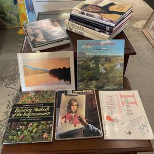 Lot # 199 Lot of Books - Art Collections, Portrait Painting, Landscapes, Needlepoint