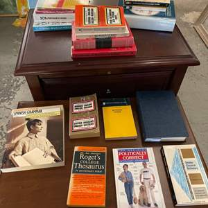 Lot # 203 Lot of Books - Foreign Language Dictionaries and Grammar